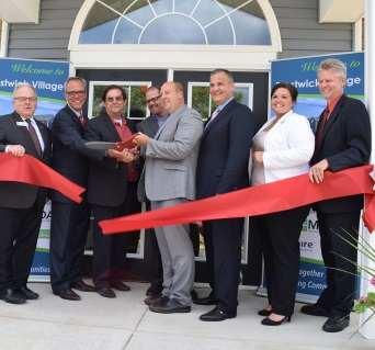 Prestwick Village ribboncutting